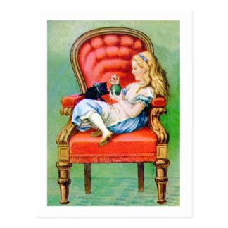 アリスおよび彼女のCAT、DINAH 葉書き