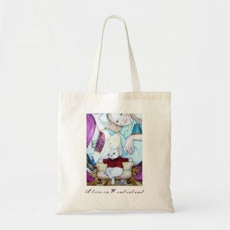 アリスおよび白いウサギ トートバッグ