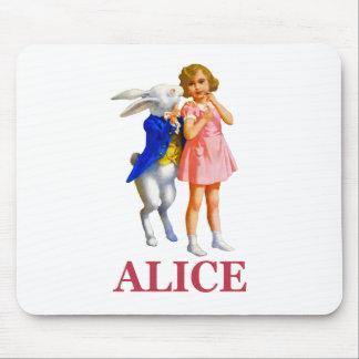 アリスおよび白いウサギ マウスパッド