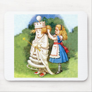 アリスおよび白人の女王 マウスパッド