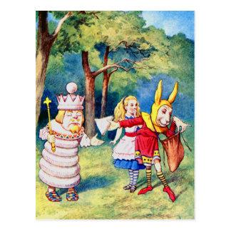 アリスおよび白人王 ポストカード