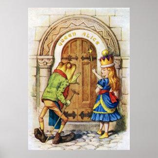 アリスからの姿見を通したアリス女王 ポスター