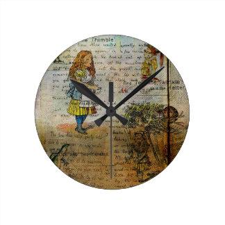 アリスの冒険 ラウンド壁時計