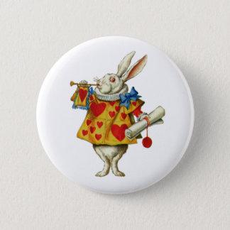 アリスの白いウサギ 5.7CM 丸型バッジ