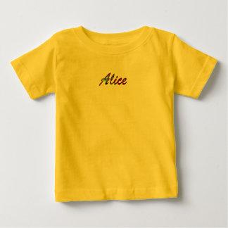 アリスの赤ん坊の罰金のジャージーのTシャツ ベビーTシャツ