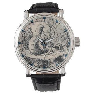アリスの(不思議の国で)図解入りの、写真付きのなテーマの腕時計 腕時計