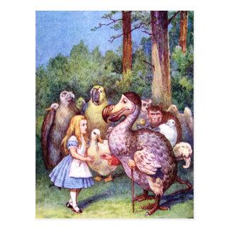 アリスはドードーの鳥に会います 葉書き