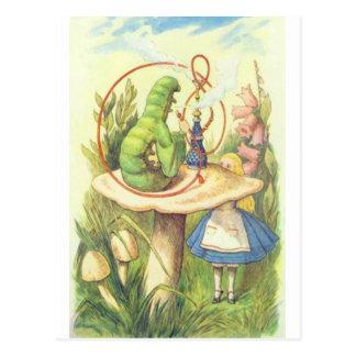 アリスは幼虫に会います ポストカード