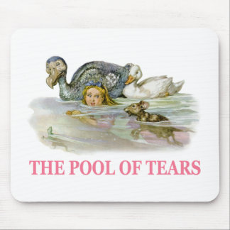 アリスは破損のプールで泳ぎます マウスパッド