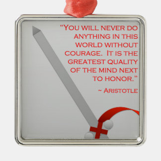 アリストテレスの勇気及び名誉の生命 メタルオーナメント