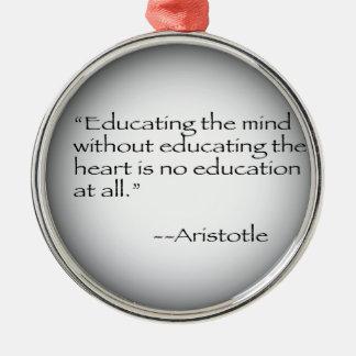 アリストテレスの引用文 メタルオーナメント