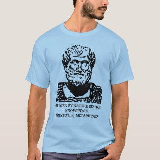 アリストテレスの形而上学の引用文 Tシャツ