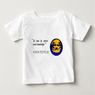 アリストテレスの知識 ベビーTシャツ