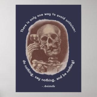 アリストテレスの骨組トースト避ける1つの方法だけ ポスター