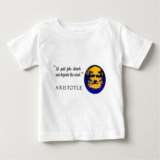 アリストテレスは、支払済の仕事心を低下させます ベビーTシャツ