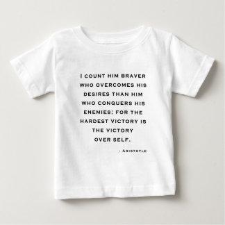 アリストテレス-自己上の勝利 ベビーTシャツ