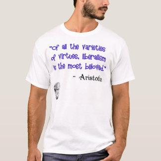 アリストテレス: 自由主義の最愛の美徳 Tシャツ