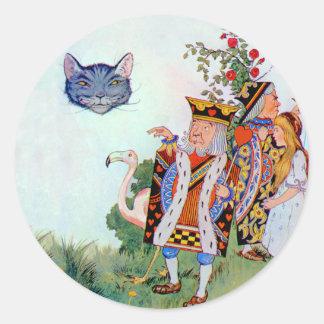 、アリスハートおよびチェシャー猫の王 ラウンドシール