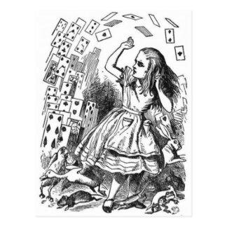 アリス及びカード ポストカード