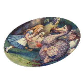 アリス及びドードー色のプレート パーティー皿