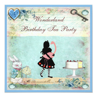 アリス及びフラミンゴの不思議の国の誕生日のお茶会 カード