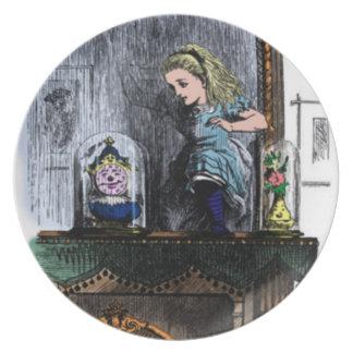 アリス及び姿見のプレート ディナー皿