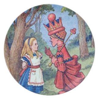 アリス及び赤い女王のプレート ディナープレート