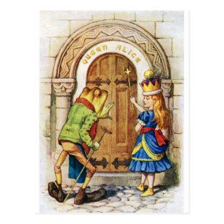 アリス宮殿のアリスそしてカエル 葉書き