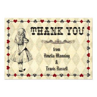 アリス 不思議の国 感謝していして下さい  カード - 結婚 自分だけの案内状