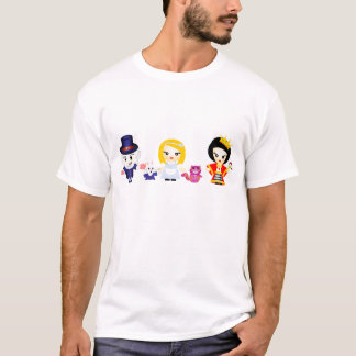 アリス、女王および帽子屋 Tシャツ