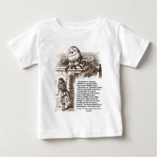 アリスHumpty Dumptyの不思議の国の会話の引用文 ベビーTシャツ