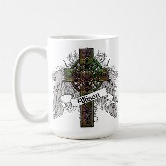アリソンのタータンチェックの十字 コーヒーマグカップ