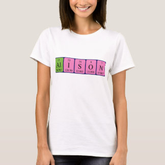 アリソンの周期表の名前のワイシャツ Tシャツ