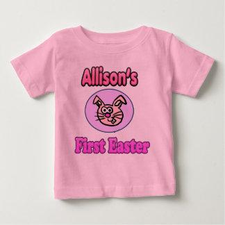 アリソンの第1イースターワイシャツ ベビーTシャツ