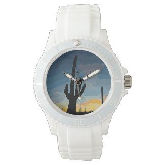 アリゾナのサグアロのサボテンの南西日没 腕時計