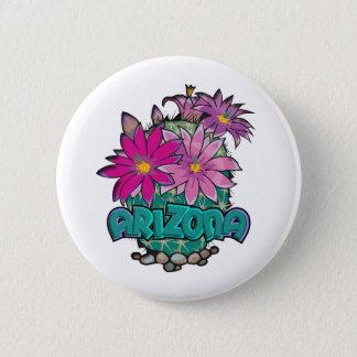 アリゾナのサボテンの開花 5.7CM 丸型バッジ