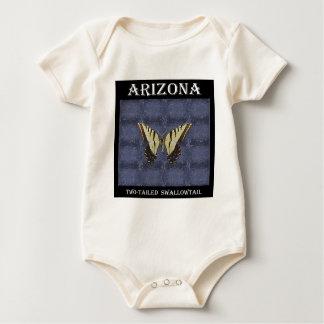 アリゾナの両側のアゲハチョウの蝶 ベビーボディスーツ