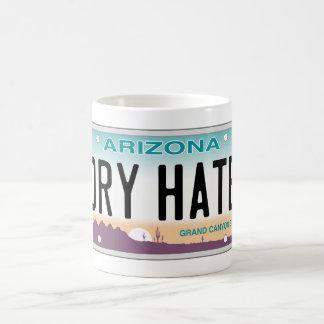 アリゾナの乾燥した憎悪のバニティー・プレートのマグ コーヒーマグカップ