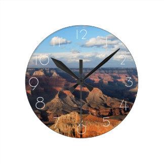 アリゾナの南縁から見られるグランドキャニオン ラウンド壁時計