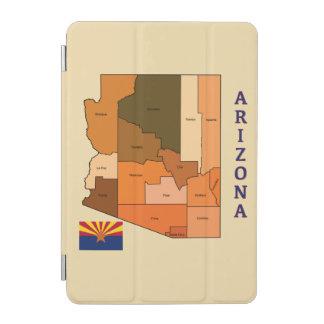 アリゾナの地図そして旗 iPad MINIカバー
