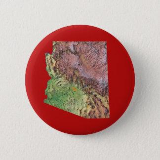 アリゾナの地図ボタン 缶バッジ