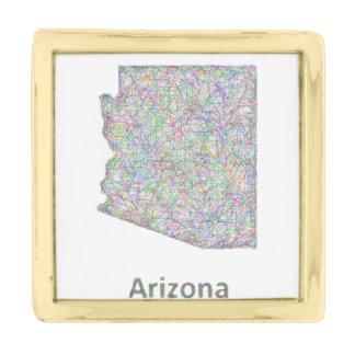 アリゾナの地図 ゴールド ラペルピン