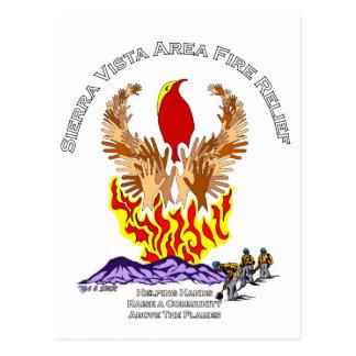 アリゾナの山火事のレリーフ、浮き彫りのワイシャツ ポストカード