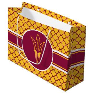 アリゾナの州のフォーク のクローバーパターン ラージペーパーバッグ