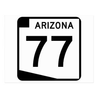 アリゾナの州のルート77 ポストカード