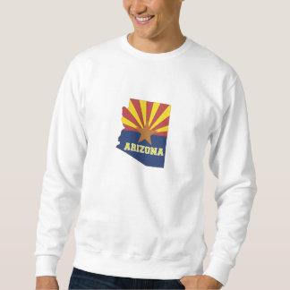 アリゾナの州の地図および旗 スウェットシャツ