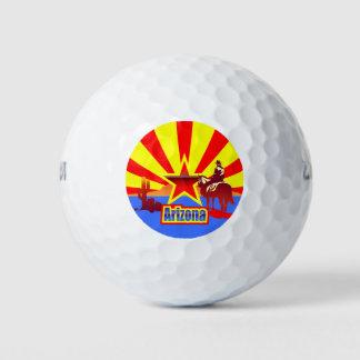アリゾナの州の旗のヴィンテージのイラストレーション ゴルフボール