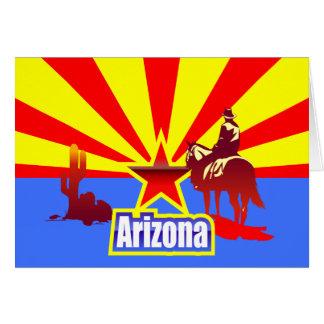 アリゾナの州の旗のヴィンテージの引くこと カード