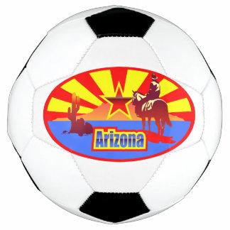 アリゾナの州の旗のヴィンテージの引くこと サッカーボール