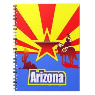 アリゾナの州の旗のヴィンテージの引くこと ノートブック